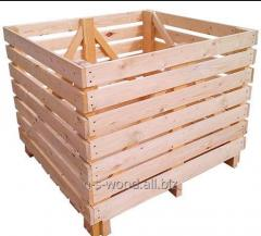 Wooden containers for storage of apples, onions, a