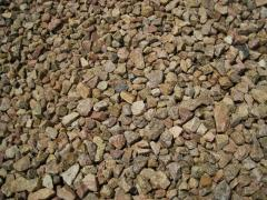 Crushed stone granite different fractions