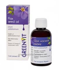 Oil of SEEDS of FLAX from Greene Visa -