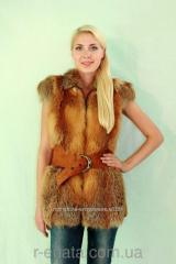 Vest from natural fur of a fox