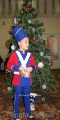 Детский  костюм оловянного солдатика синий с