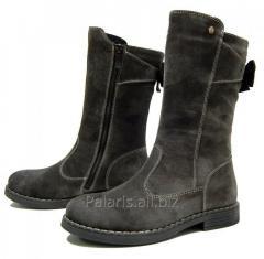 Blue leather half boots, art. 2109-130216