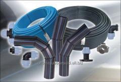 Pipe polyethylene water PE-100 of of 110-630 mm
