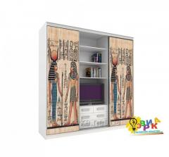 Vinyl stickers on a sliding wardrobe Egyp