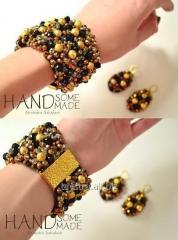 Набір браслет+сережки by HandsomeHandmade