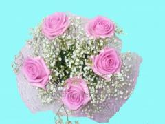 Bouquet from pink roses