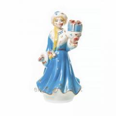 """Сувенирная керамическая бутылка для водки """"Снегурочка №1"""""""