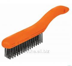Brush metal curved Truper 4х16 handle; 265 mm