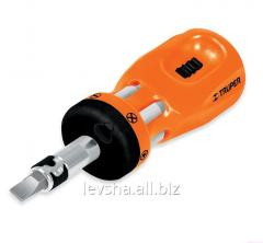 Truper Mini screw-driver handle, 6 double bits of