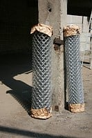 Grid chain-link. Metal wares in assortment from