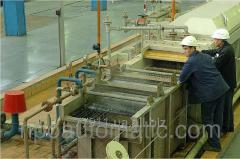 Unit of hot galvanizing of a wire LTsP-8