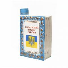 """Decorative ceramic shtof """"Book"""