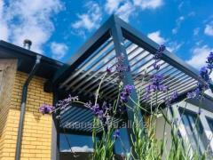 Bioclimatic all-weather aluminum pergola of