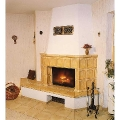 Fireplaces from granite and marble