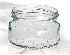 Bank glass Amelia of 100 ml under a cover