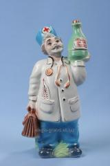 "Decorative shtof from ceramics ""Doctor"