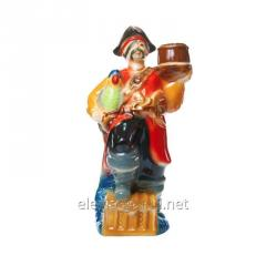 Ceramic souvenir bottle with Pirate vodka