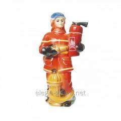 """Сувенирная керамическая бутылка с водкой """"Пожарный"""""""