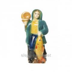 "Ceramic bottle-figurine ""Pescatore"""