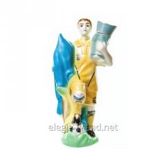 "Souvenir ceramic shtof ""Football player"