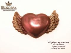 Heart with wings chocolate