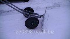Snow-removing car