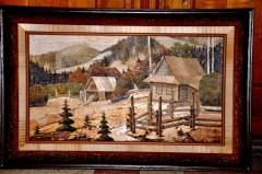 Pictures on birch bark, pictures without pain