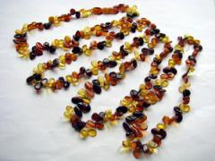 Medical beads from amber