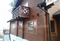 Maisons en barres de bois