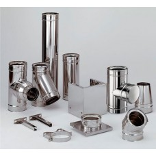 Pipe chimney of stainless steel