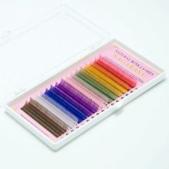 Eyelashes for building color Nagaraku a mix of 16