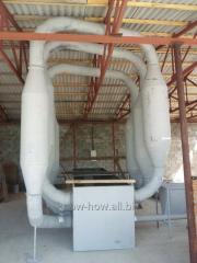 Aerodynamic dryer for sawdust