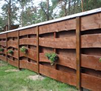 Деревянные заборы Киев, забор деревянный цена,