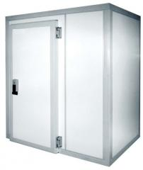 Холодильные и морозильные камеры объемом от 3м³,