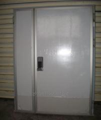 Дверь холодильная двустворчатая 2200х2400