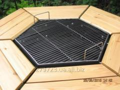 Table a brazier barbecue on 6 persons