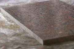 Products from granite and a gabbro tile, borders,