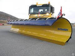 Cars are snow-removing, Sweeping and snowplows for