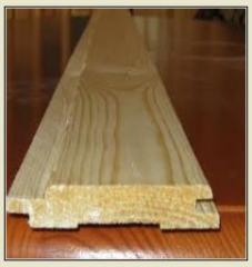 Lining wooden europrofile