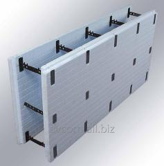 ICF block the Fixed timbering from extruded