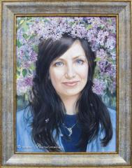 Female portrait oil
