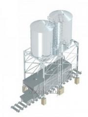 Forwarding railway silo of AR are intended for dry