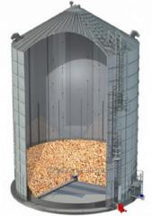 Flat-bottomed silo from the smooth metal sheet SPA