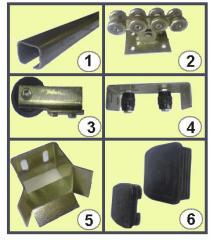 Комплект фурнитуры (комплектующие) для откатных