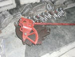 Worm for a torque transmission on brake shoes