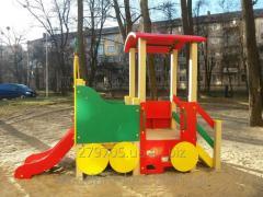 Горка Поезд с игровой платформой