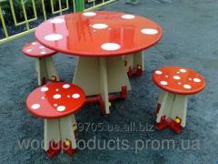 Комплект (Стол и стулья) Мухомор