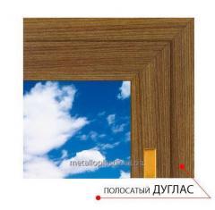 Ламинированное окно Steko Полосатый дуглас