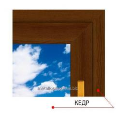 Ламинированное окно Steko Кедр