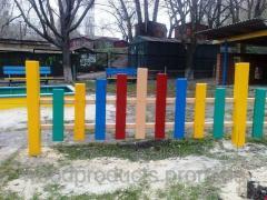 Забор деревянный Радуга для детских площадок